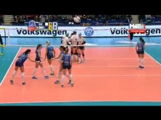 Волейбол / Женщины / Лига Чемпионов 2015-16 / Плей-офф / Раунд 12 / 1-й матч / Дрезднер (Германия) - Динамо (Москва, Россия)