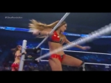 Nikki Bella and Brie Bella  (with Alicia Fox) vs Naomi and Sasha Banks (with Tamina)