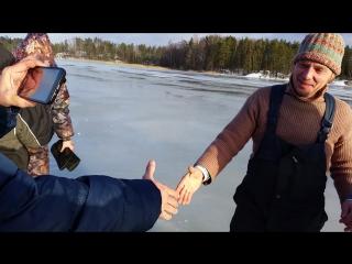 Зимняя рыбалка в Карелии !