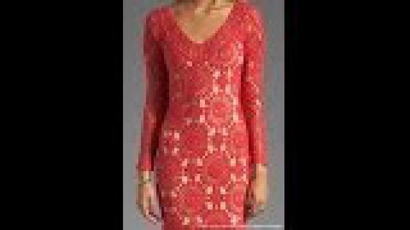 Платье из мотивов крючком. Безотрывное вязание малого мотива.