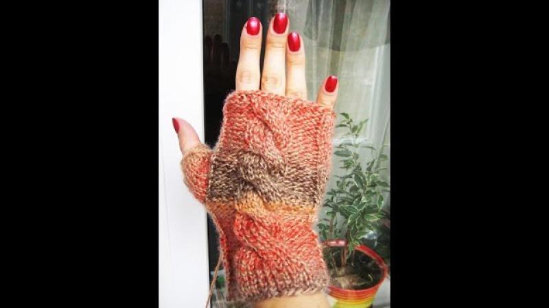Митенки Knitting fishnet fingerless gloves