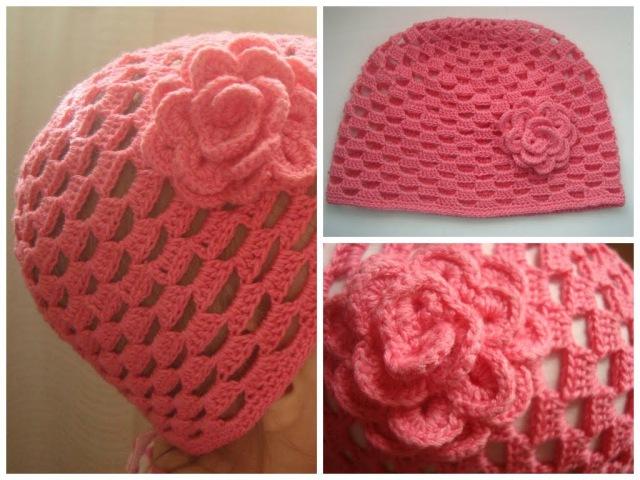 Шапочка крючком Baby Crochet Hat (eng subs)