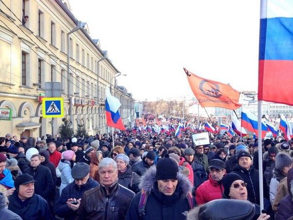 На марш памяти Немцова в Москве пришли 24 тыс. человек, полиция насчитала лишь 7,5 тыс. участников шествия - Цензор.НЕТ 4649