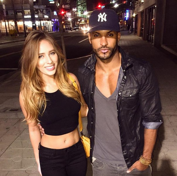 Ricky Whittle with Girlfriend Kirstina Colonna