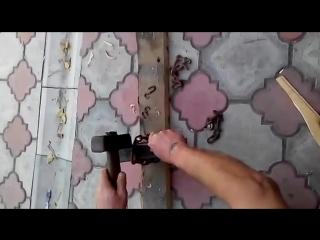Тест ножа из булата Сергея Баранова