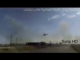 Russian  Mi-24 helicopter Assist SAA  unites and pounce on hostiles