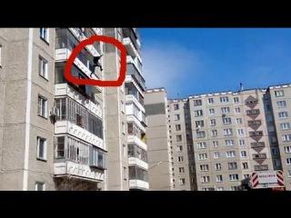 Супер скороростной спуск дивана с 6 этажа в мире экшен прикол обманули Рязанских грузчиков