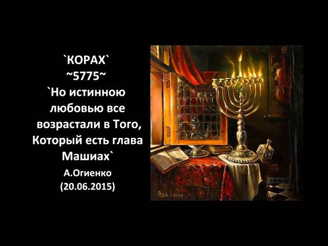 `КОРАХ` ~5775~ «Но истинною любовью все возрастали в Того, Который есть глава Машиах» А.Огиенко (20.06.2015)