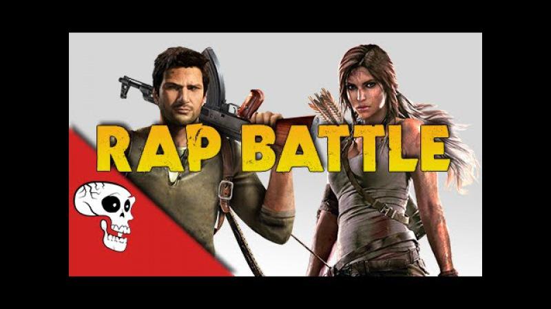 Lara Croft vs Nathan Drake Rap Battle by JT Music Andrea Storm Kaden