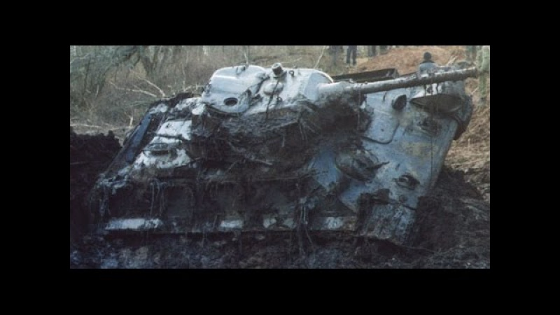 Достали танк Т-34 из болота