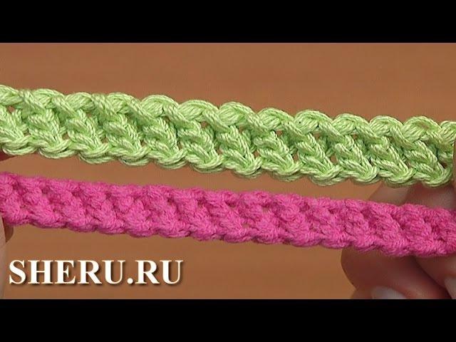 Шнур гусеничка связанный необычным способом Урок 94 Crochet Cord Romanian Lace