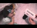 Белла (Ангелина), 1 год и 5 мес, читает слова