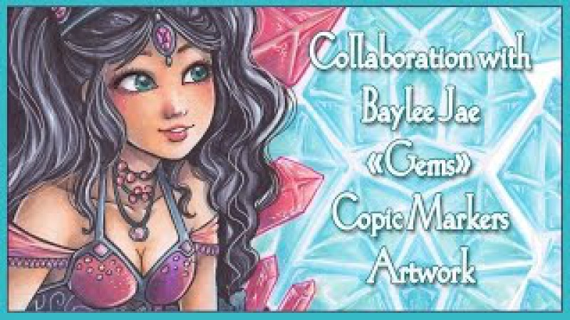 Jewel Sisters Copic Marker Artwork - Collaboration with Baylee Jae