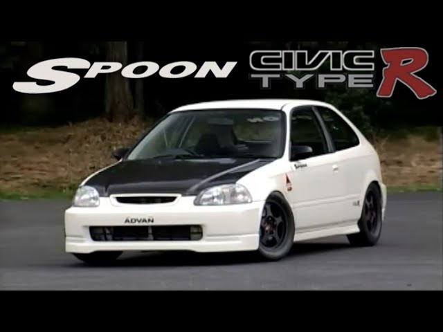 [ENG CC] Spoon Civic Type R EK9 260HP 900kg - full lap ONBOARD Tsukuba
