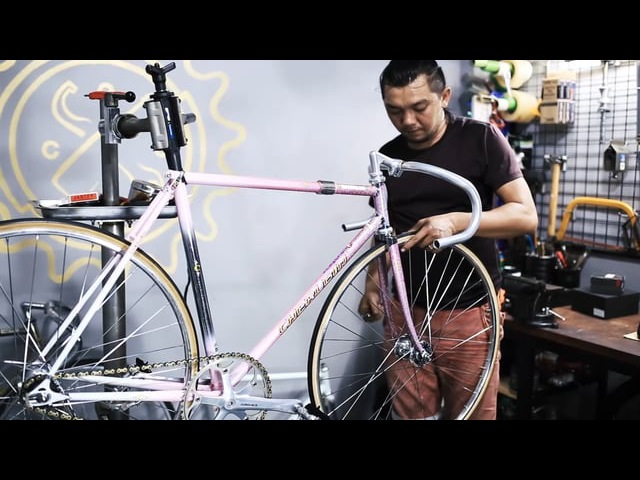 Building Keirin NJS Track Bike Cherubim - COGWorkshop