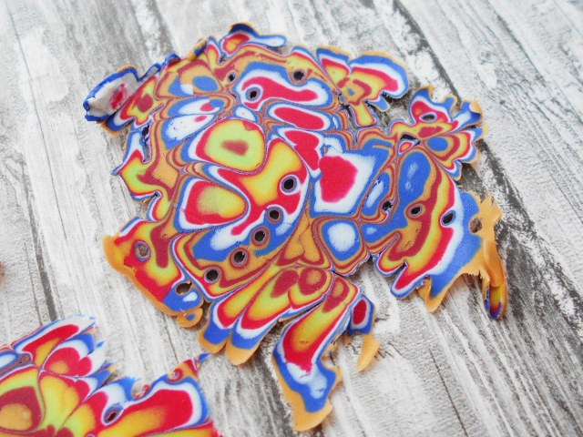 Мокуме Гане (Mokume Gane) - Волшебный рисунок из глины FIMO