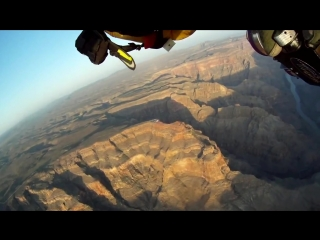 Полет над западным Гранд-каньоном в штате Аризона, США / Jetman Flight at Grand Canyon West