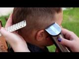 Модная стрижка для мальчика. Как сделать узоры на голове