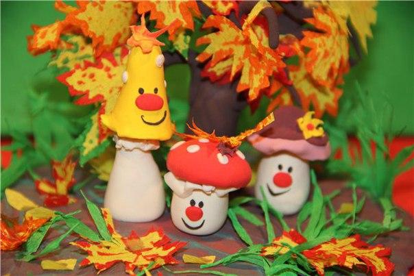 Поделки из пластилина в детский сад на тему осень 51