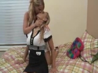 Teen and milf blondes having lesbian sex