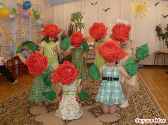 Как сделать своими руками костюм цветка