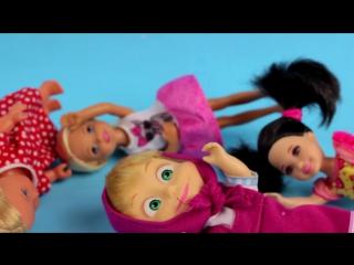 Барби Маша и Медведь Взрослая Жизнь мультик с куклами на русском игрушки для детей