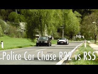 Police car chase R32 Turbo vs RS5 - FILE404.NET