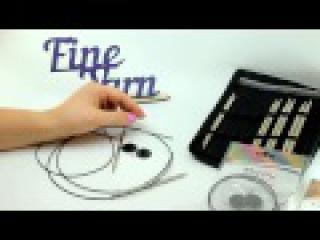 Видеоурок вязания от Fineyarn 4 Как пользоваться съемными спицами KnitPro