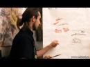Обучение рисованию Пиона при помощи живописи у-син. Урок 1. Цветок Пиона