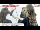 Modelowanie długich włosów przy pomocy prostownicy