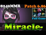 Dota 2 - Patch 6.86 : Miracle- 8240MMR Top 1 MMR Plays Templar Assassin - Ranked Gameplay