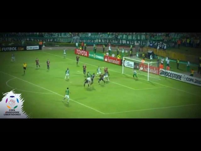 Pelea tras el gol Orlando Berrio Atlético Nacional vs Rosario Central 3-1 Copa Libertadores 19-05-16