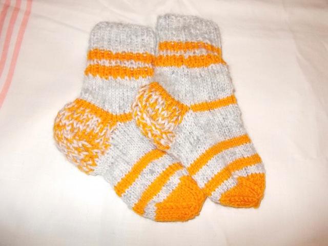 Вязание спицами носки для детей малышей детские носочки