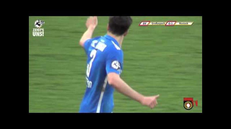 33. Spieltag: SG Sonnenhof Großaspach - F.C. Hansa Rostock - Das Spiel