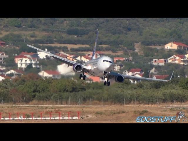 Extreme! UIA Boeing 737-900ER Landing Approach at Split airport SPULDSP
