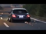 【走行動画】 火花を散らして走るY33 Y34!極低車高短 鬼キャンY33シーマ Y34セ&#12489