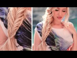Fishtail braid with a twisted edge hairstyle ★ Long hair tutorial with extensions