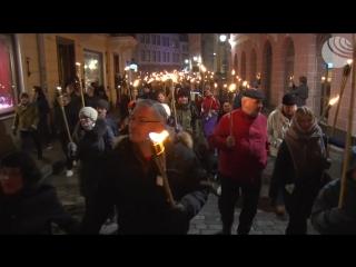 Факельное шествие неонацистов в Эстонии