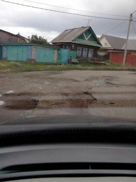 Житель Чистополя пожаловался на разрушенную дорогу на улице Хамзина — «Народный контроль»