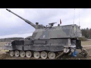 САУ PzH 2000 на полигоне в Германии / Превосходство НАТО