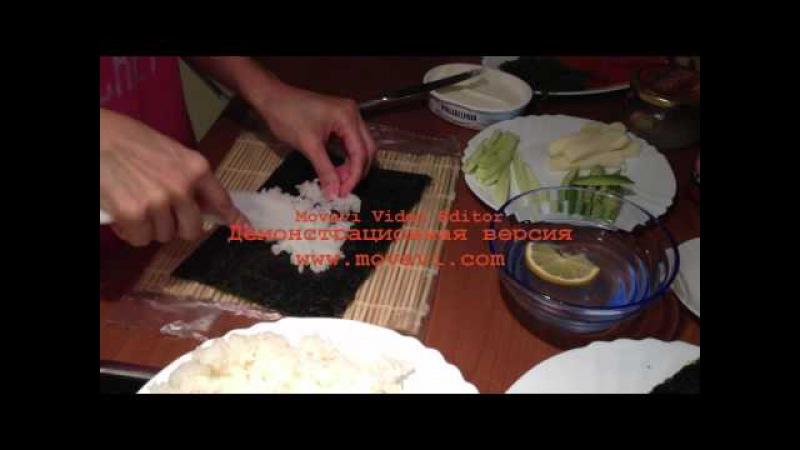 Как сделать суши дома пошагово фото фото 648