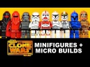 LEGO Star Wars The Clone Wars KnockOff Minifigures Micro-Builds Set 10 DeCool