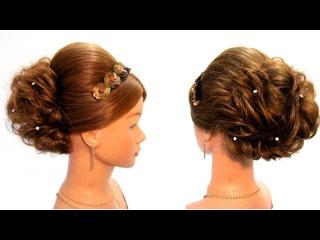 Видео уроки причесок - LiliaLady777 Прически косы плетение #10