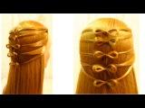 Видео уроки причесок - LiliaLady777 Прически косы плетение #6