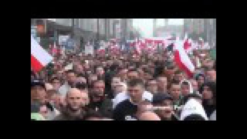 Poland Demonstration Against Immigrants and Islam Polska demonstracja przeciw islamu immigrantow
