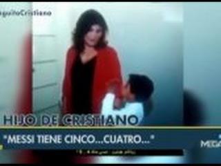 El hijo de Cristiano, fan absoluto de Leo Messi