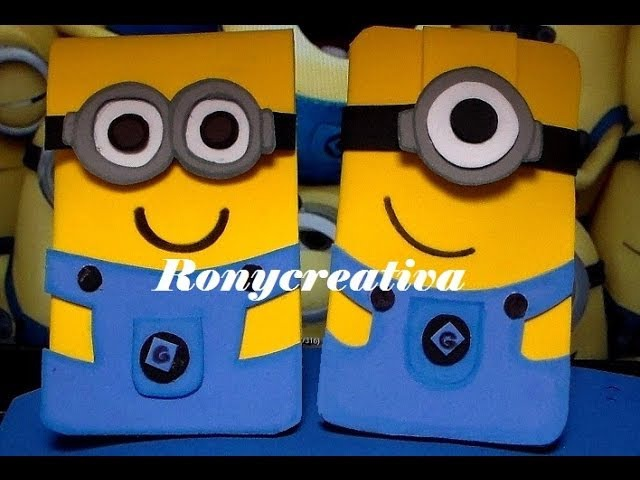 MINIONS FUNDAS MULTIUSOS - IDEA ORIGINAL DE RONYCREATIVA MINION TABLET CASE DIY