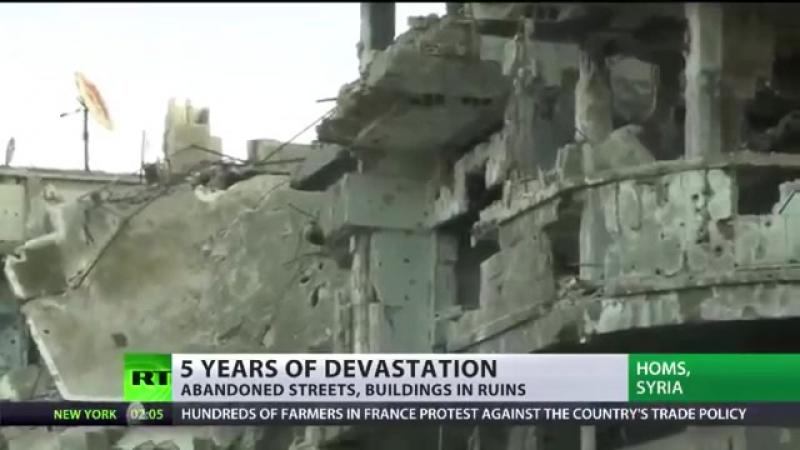 Syrien- Der Wahnsinn des Krieges - Anwohner kehren in total zerstörtes Homs zurü