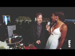 Марк Хэмилл на премьере фильма Звездные войны Пробуждение силы Mark Hamill Star Wars the Force Awakens Luke Skywalker