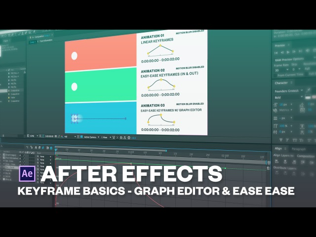 Introduction to keyframes in After effects Easy ease Graph editor